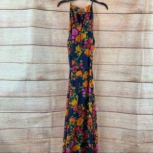 "Donna Morgan ""Tatianna"" Floral Halter Maxi Dress"